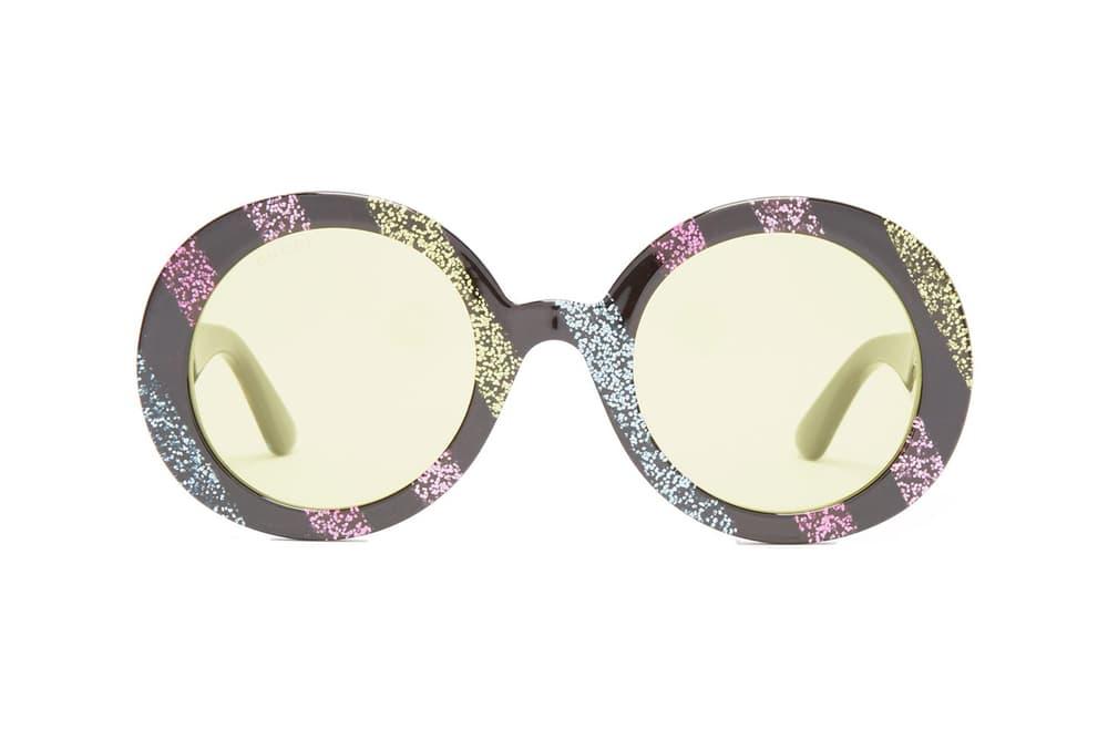 Gucci's Round-Frame Glitter Acetate Sunglasses