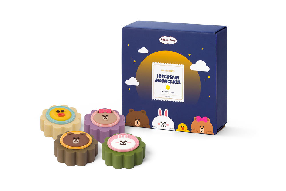 line friends haagen dazs mooncakes mid autumn festival ice cream white chocolate