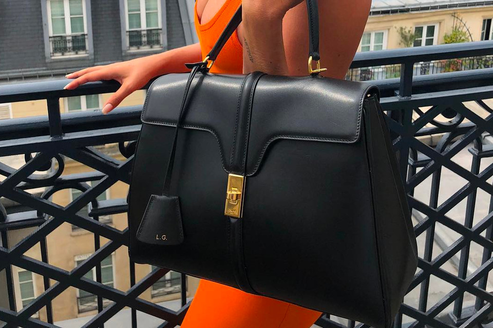 Hedi Slimane s First Céline Bag on Lady Gaga  a1b05c0a2b87b