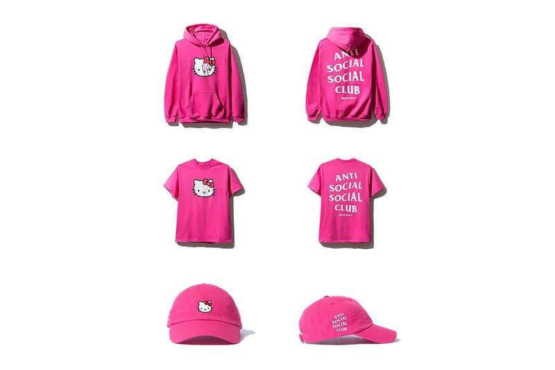 Hello Kitty Anti Social Social Club Collection Hoodie T-Shirt Cap