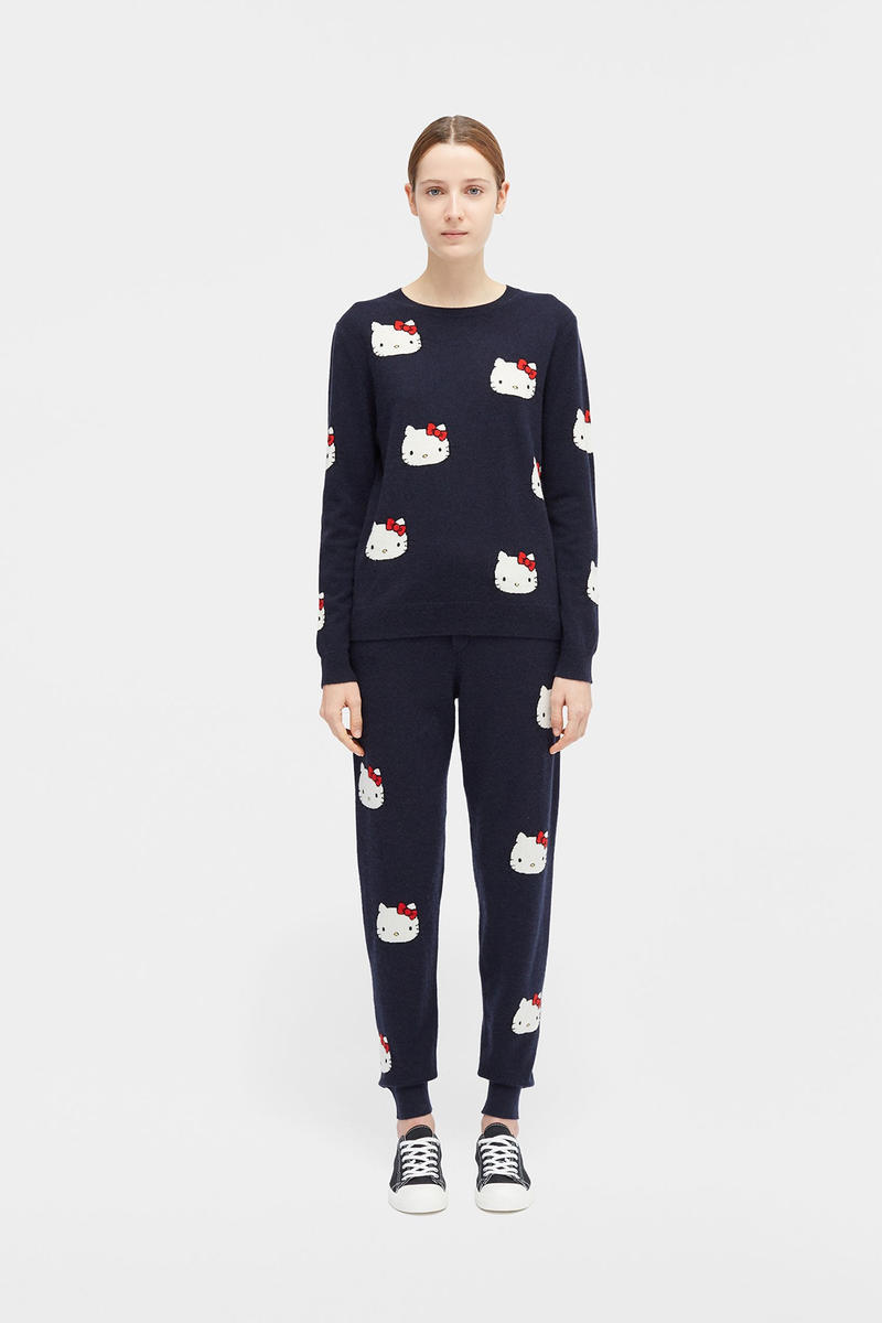 hello kitty sanrio chinti parker collaboration cashmere sweaters track pants totes collection
