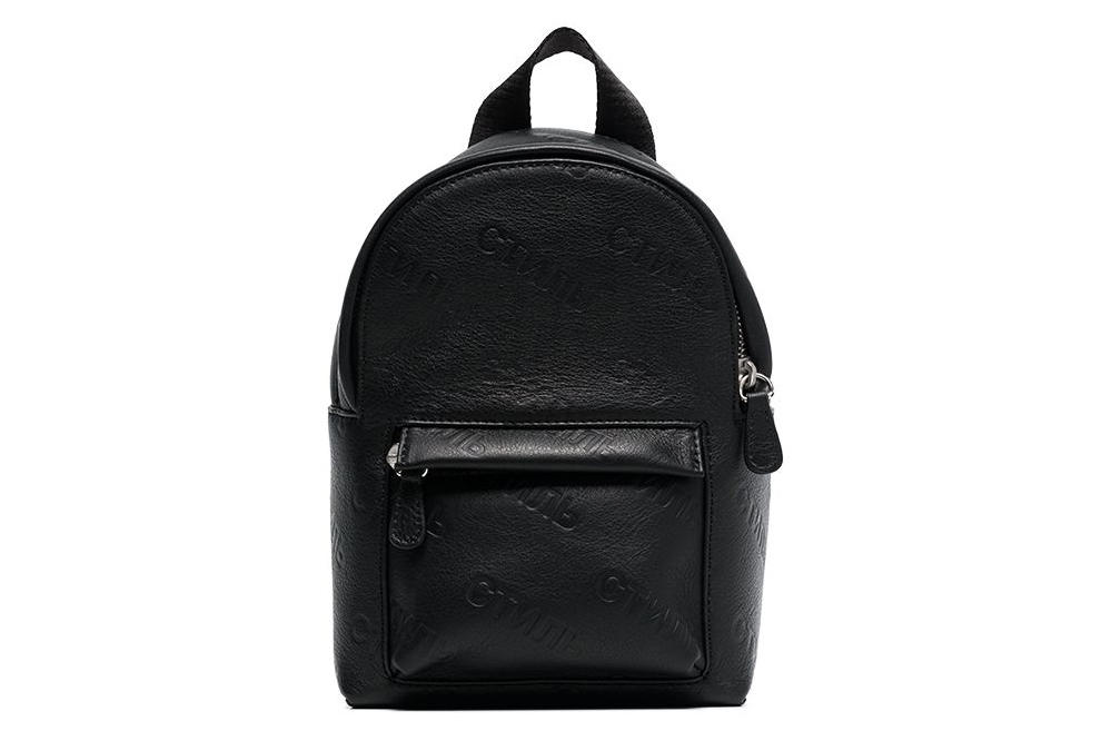 Heron Preston Black Orange Leather Mini Backpack