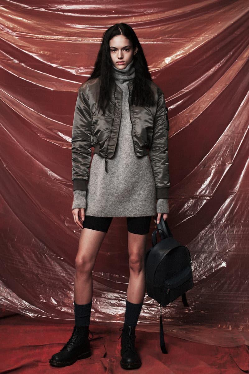 John Elliott Women's Fall/Winter 2018 Collection Lookbook Bomber Jacket Sweater Grey