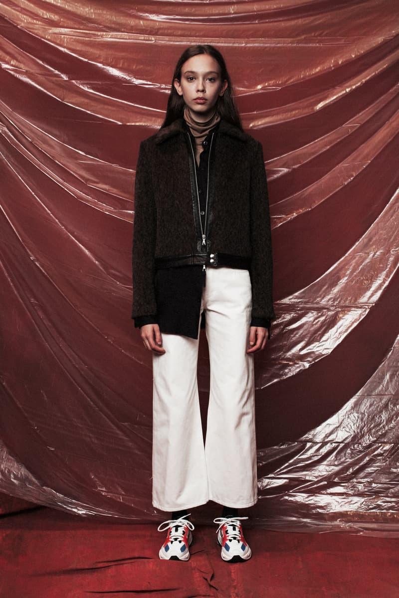 John Elliott Women's Fall/Winter 2018 Collection Jacket Black Pants White