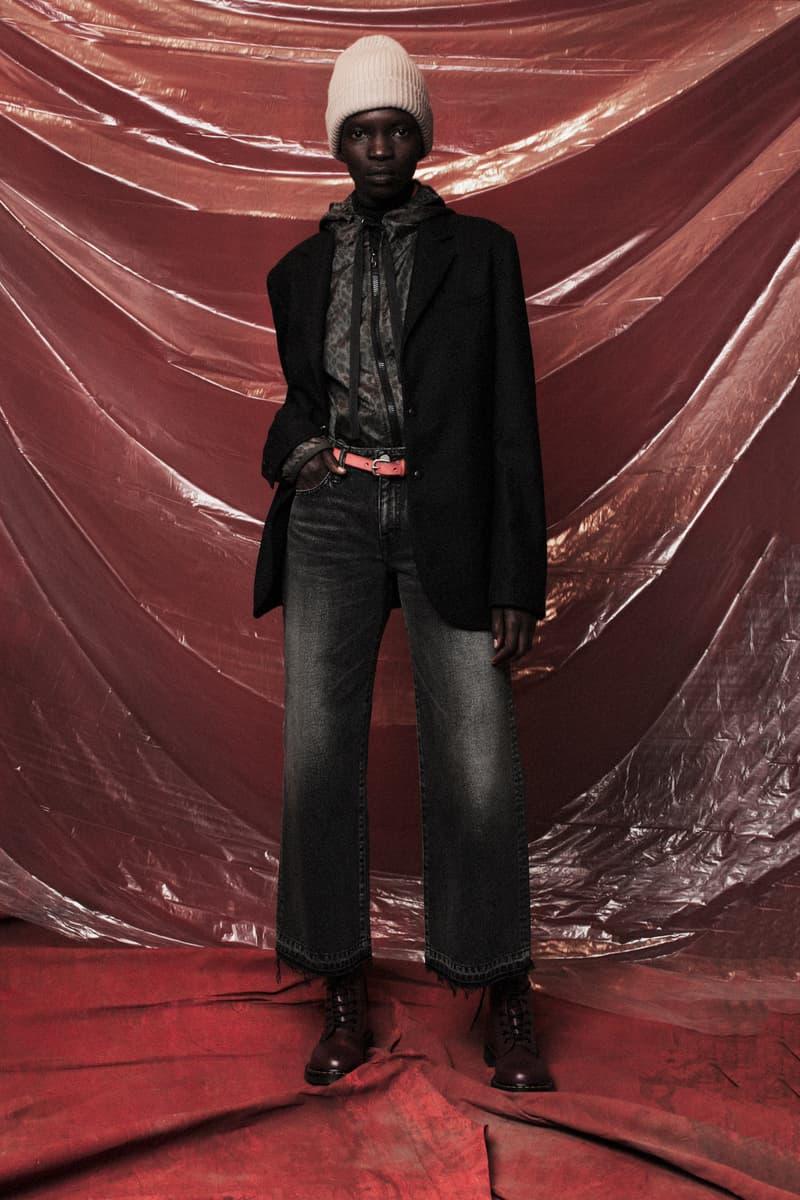 John Elliott Women's Fall/Winter 2018 Collection Lookbook Cardigan Black Pants Grey