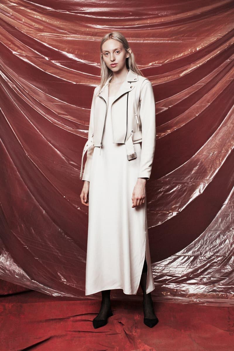 John Elliott Women's Fall/Winter 2018 Collection Lookbook Leather Jacket Dress White