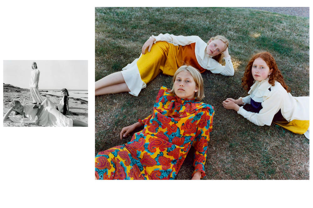 JW Anderson Fall/Winter 2018 Campaign Julie Greve Dresses Yellow Red White