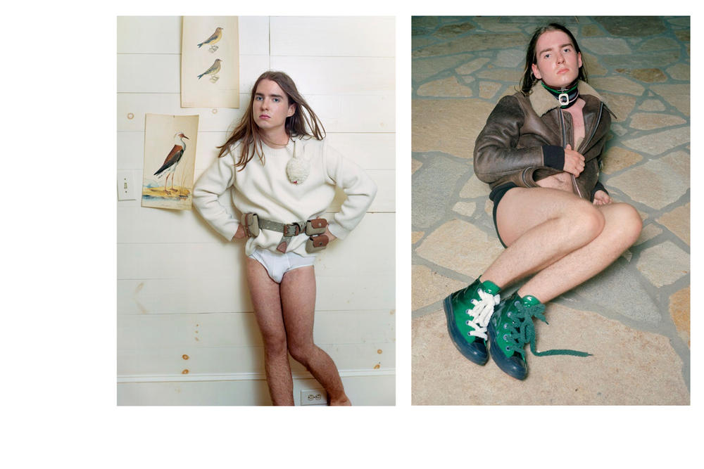 JW Anderson Fall/Winter 2018 Campaign Simons Finnerty Shirt Underwear White Converse Green