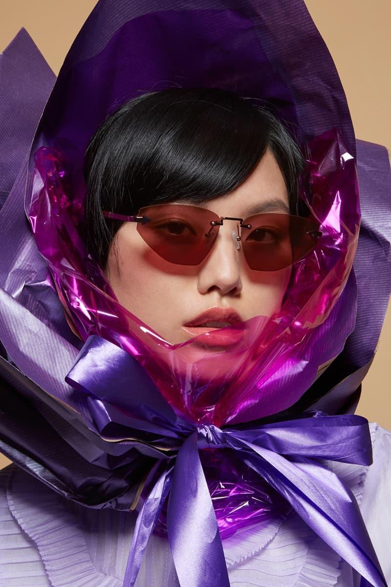 Karen Walker Sunglasses Capsule Collection Heartache Aubergine