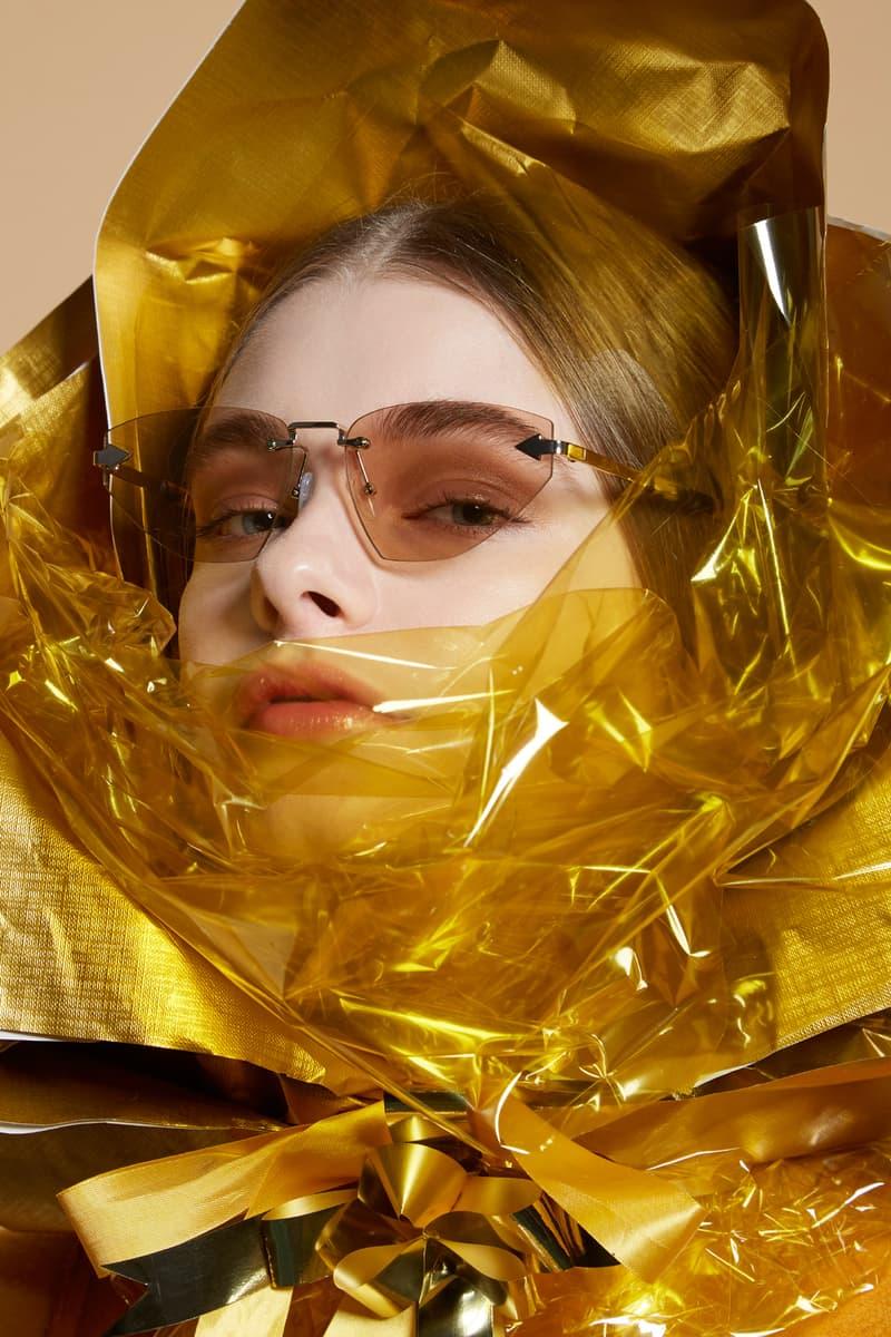 Karen Walker Sunglasses Capsule Collection Heartache Gold With Crazy Tort