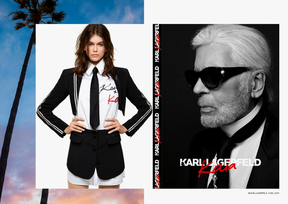 Kaia Gerber Karl Lagerfeld Capsule Collection Reveal Release Date
