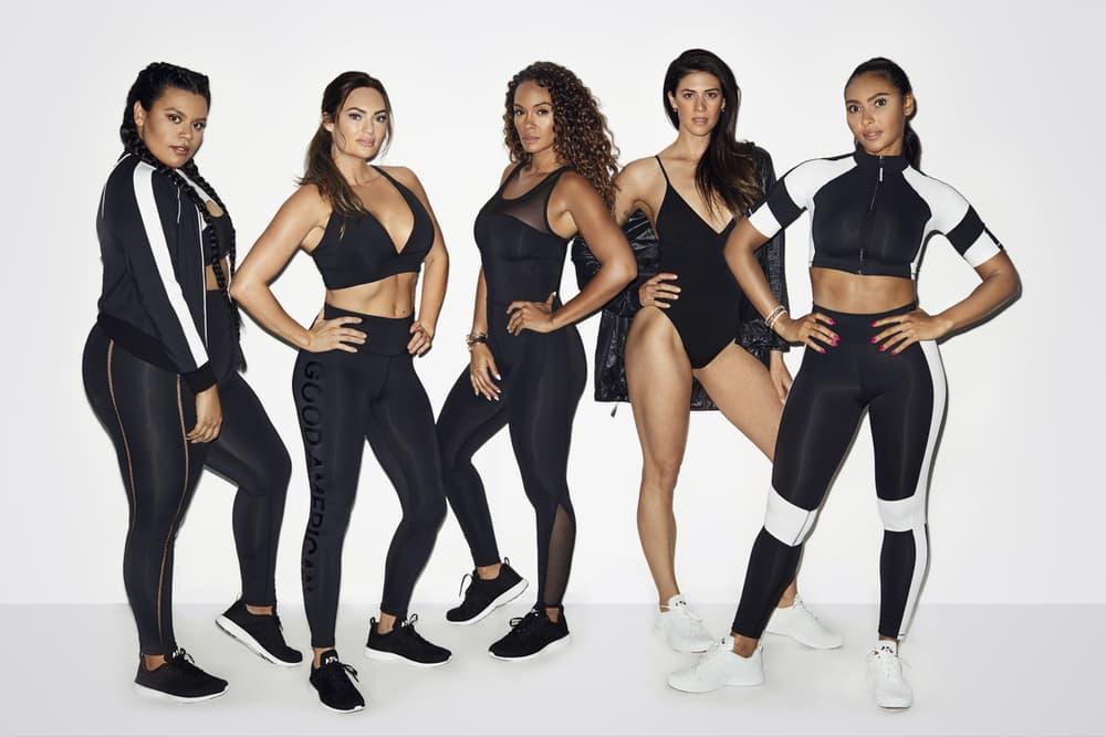 Khloe Kardashian Good American Activewear Collection Performance Crop Tops Leggings Black
