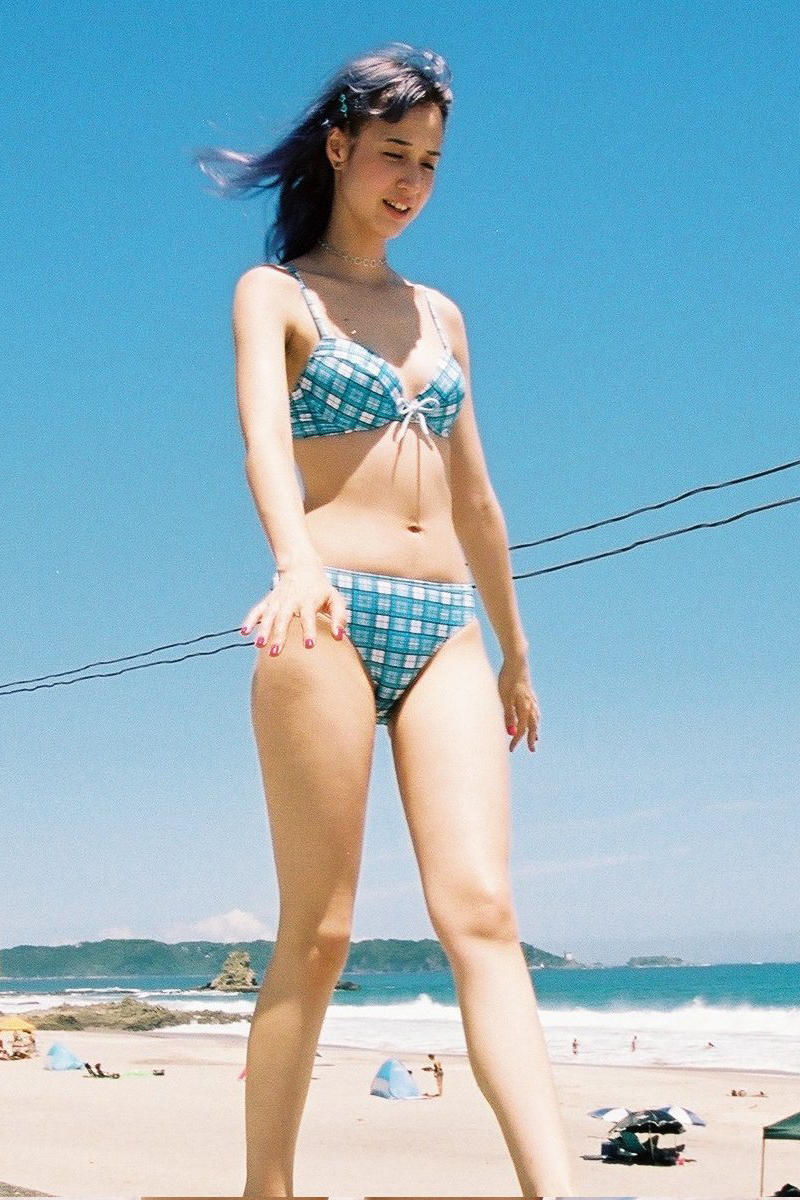 Kiko Mizuhara Sister Yuka Swimwear Office Bikini Blue