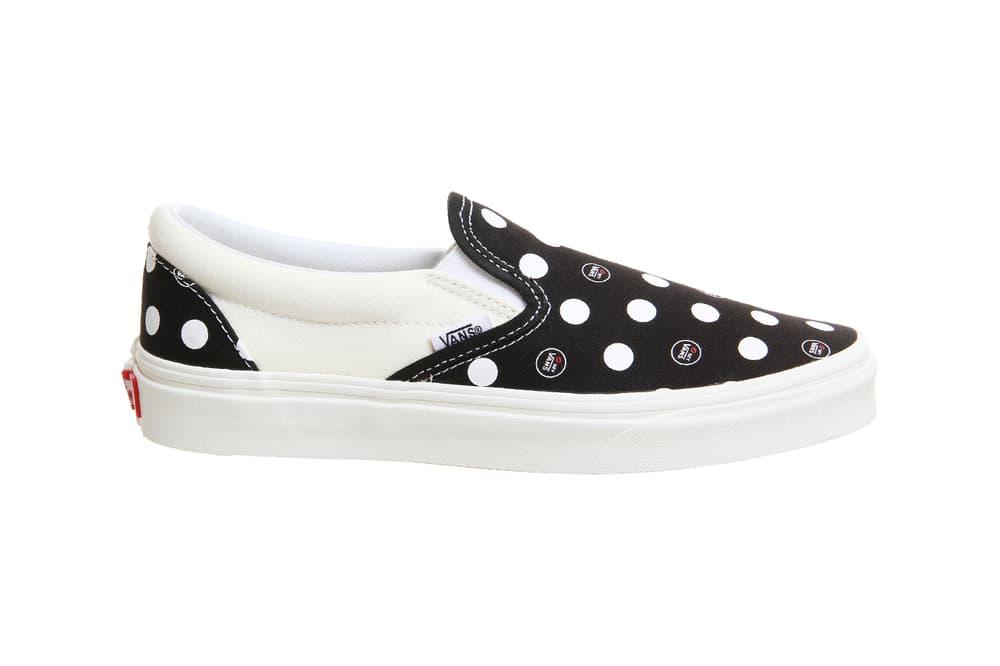 a1692a917b Kiss My Vans Black White Polka Dot Slip-on Era Sneakers