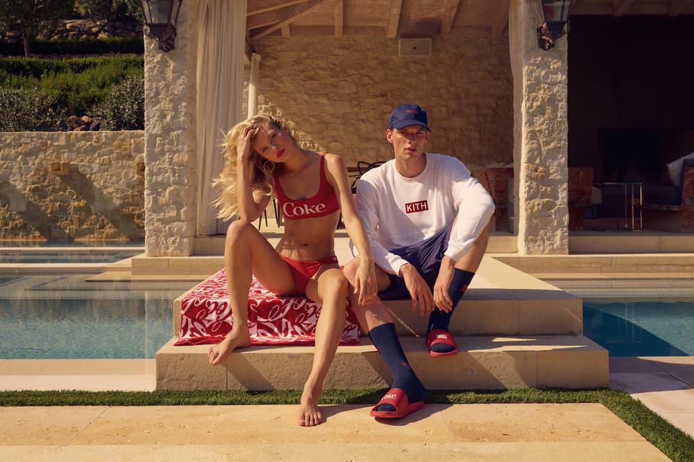 KITH x Coca Cola 2018 Collection Bikini Red Sweater White Hat Blue