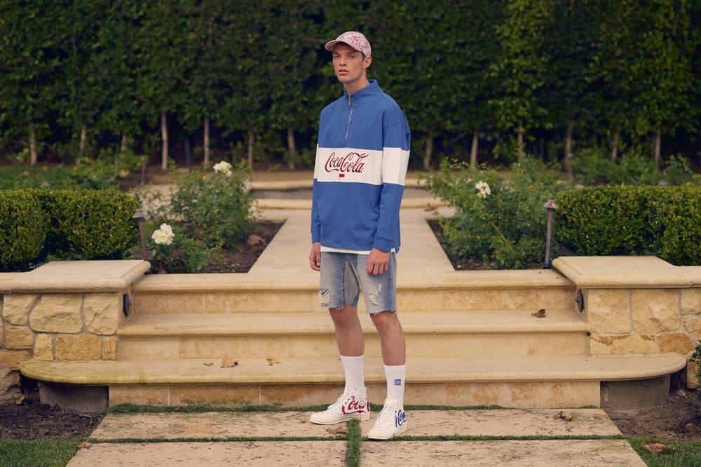 KITH x Coca Cola 2018 Collection Long Sleeve Shirt Blue Converse Chuck Taylor '70 White