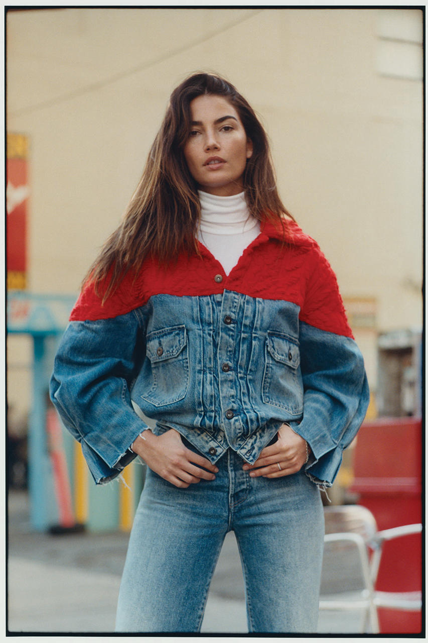 Levis Made & Crafted Fall/Winter 2018 Lookbook Lily Aldridge Campaign Collection Denim