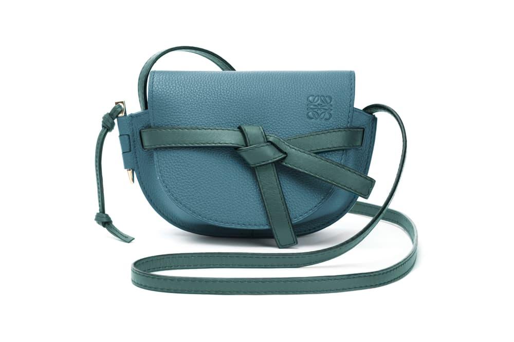 Loewe Mini Gate Bag Blue