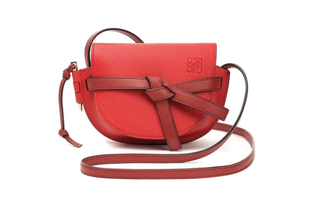 Loewe Mini Gate Bag Red