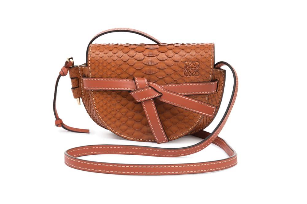 Loewe Mini Gate Bag Snakeskin Brown
