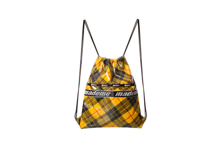 MadeMe x LeSportsac Capsule Collection Drawstring Backpack Yellow Plaid