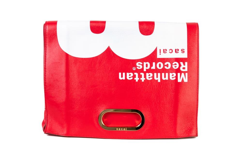Manhattan Records x Sacai Leather Handbag Red