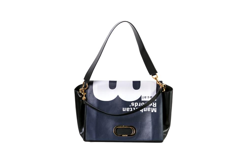 Manhattan Records x Sacai Leather Handbag Navy Blue