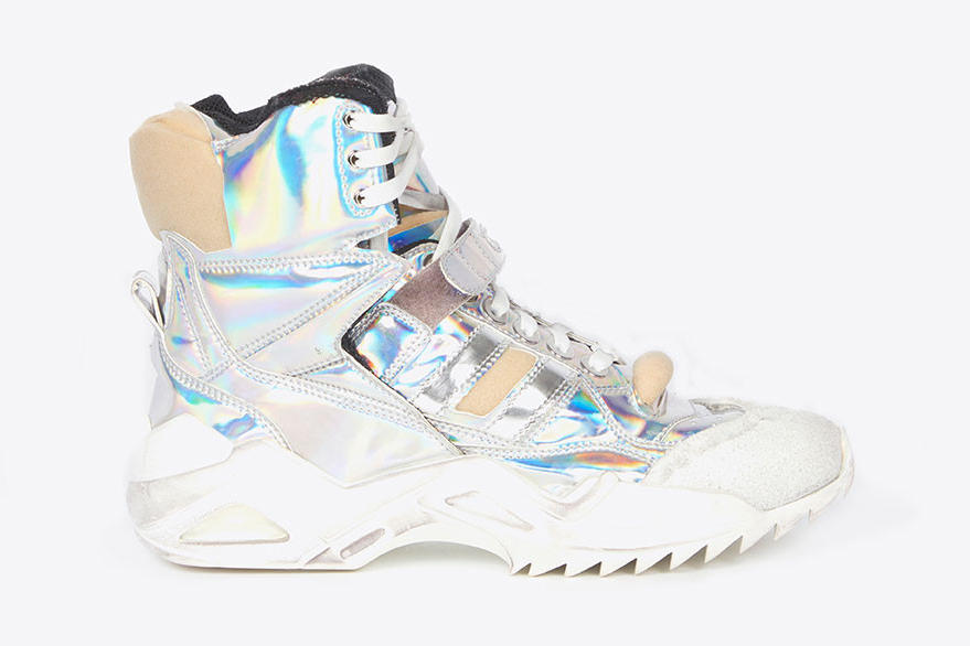 Maison Margiela's New Retro Fit Sneaker Debut John Galliano Chunky Trainer Shoe Blue Red Silver White Black