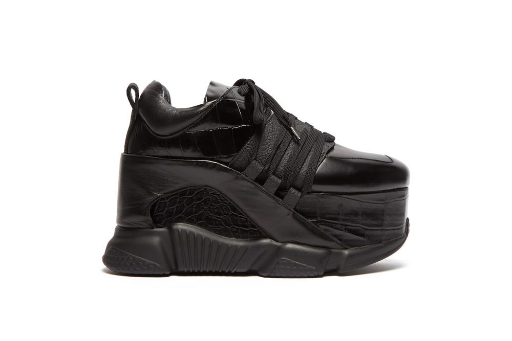 Marques'Almeida's Crazy Platform Sneakers Chunky Sole Black Leather Extreme