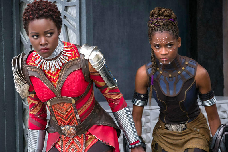 Black Panther Marvel Studios Movie Superhero Actresses Women Still