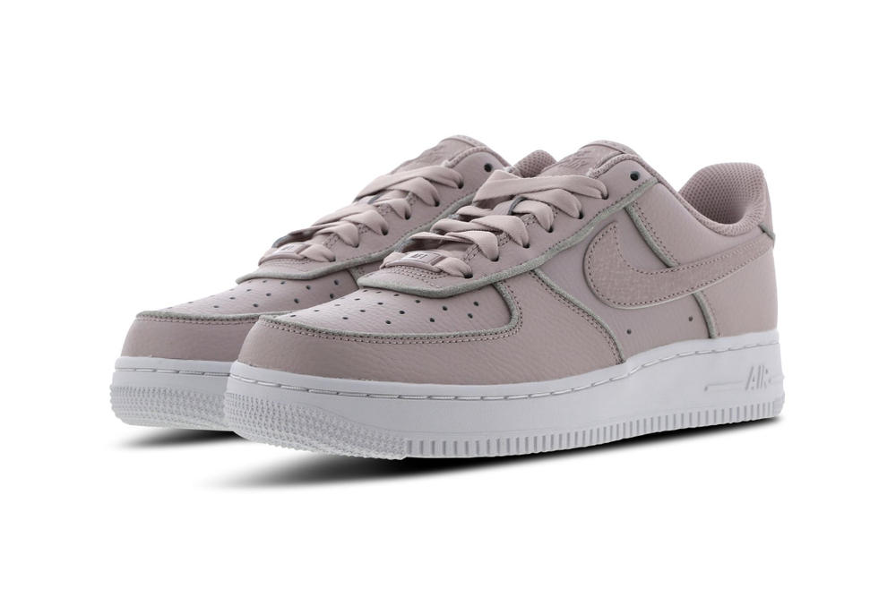 Nike Air Force 1 Pastel Blush Pink Silver Glitter Women's Sneakers