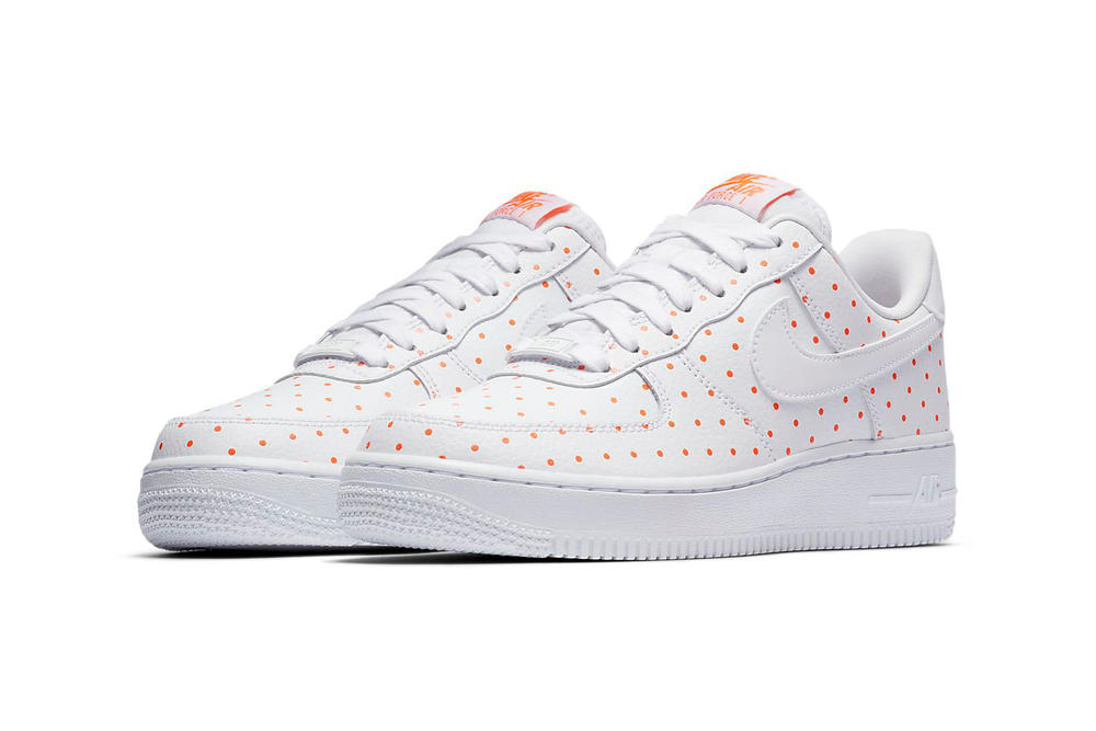 Nike Air Force 1 Polka Dots Spots White Orange Thunder Blue Yellow Sneakers