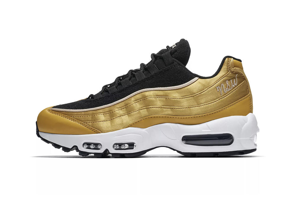 Nike Air Max 95 LX Metallic Wheat Gold Black Women s Sneaker f70a32fb5