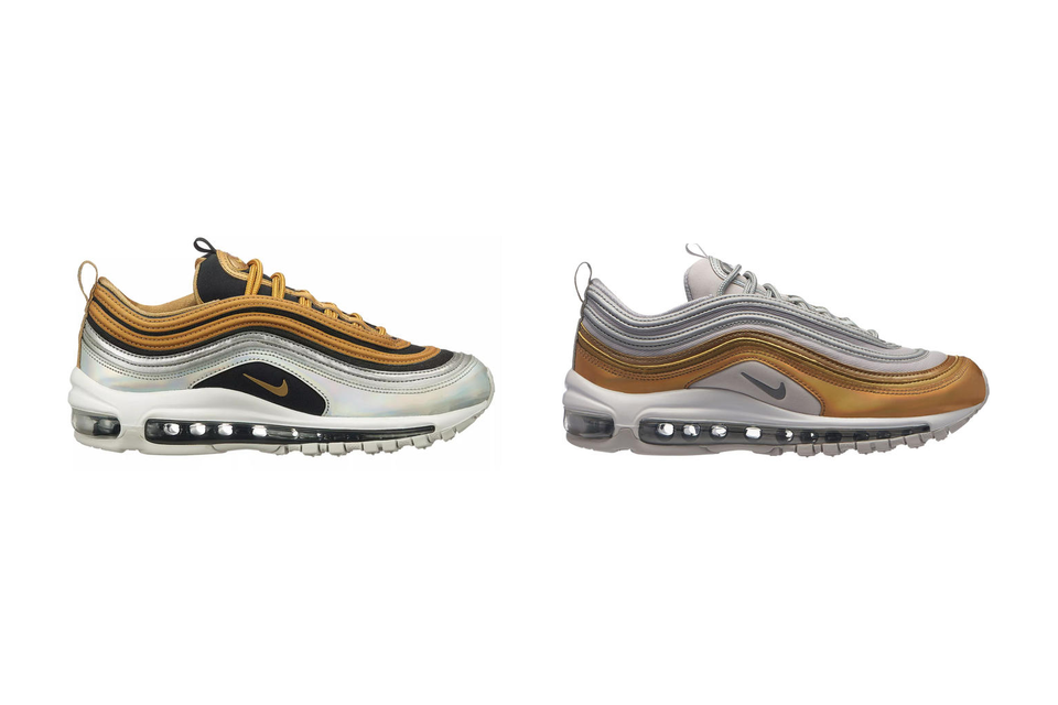 new arrival 0c0e0 10308 Nikes Air Max 97 SE in Silver and Gold  HYPEBAE