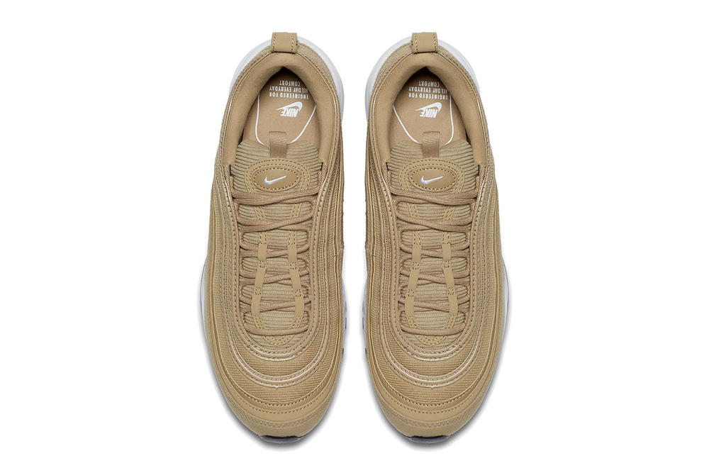 Nike Air Max 97 Sneaker Wheat Gold Studded Trainer Runner Shoe Popular Sporty Minimal