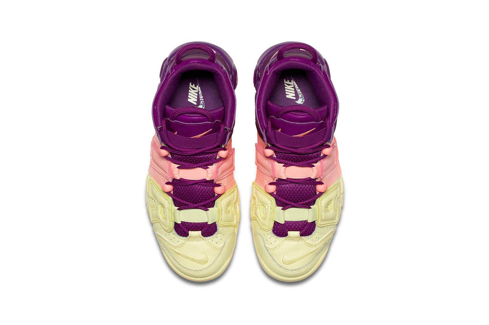 Nike Air More Uptempo Pink Bright Purple Citron