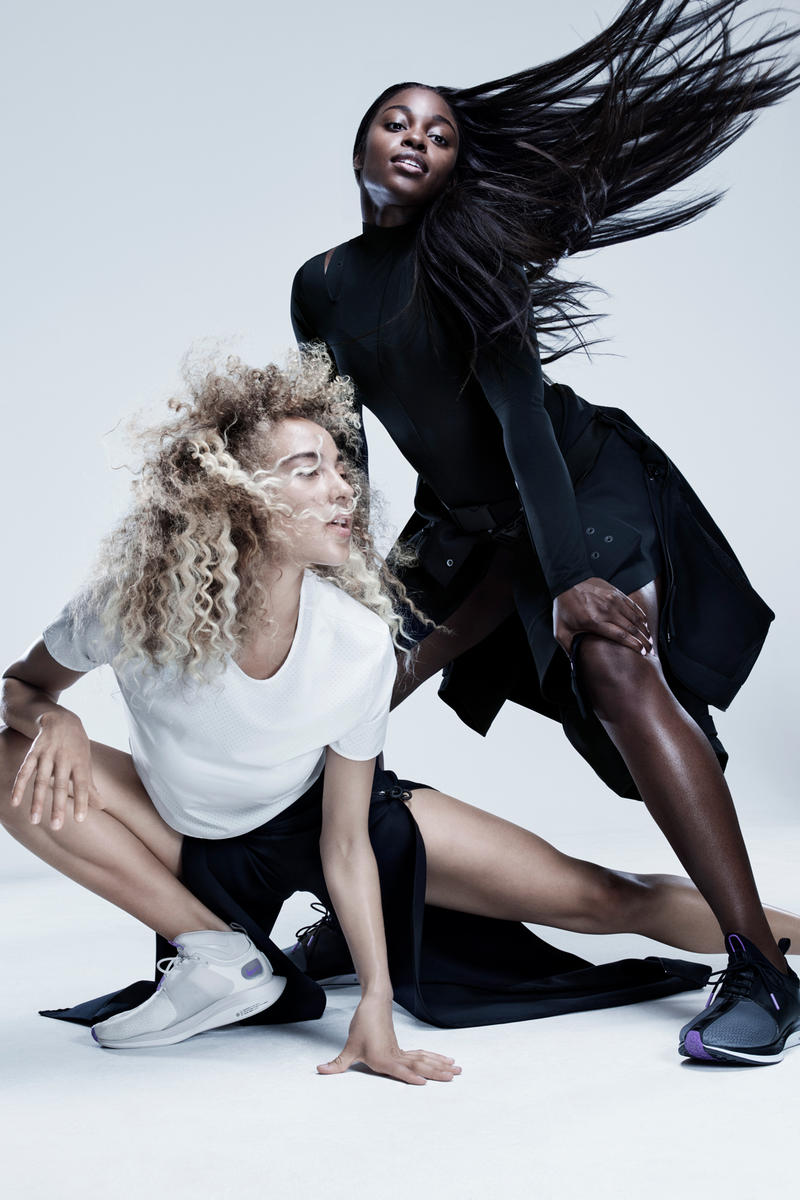 Nike City Ready Collection Campaign Sloane Stephens Bodysuit Crop Jacket Black Olivia Burgess Tee White