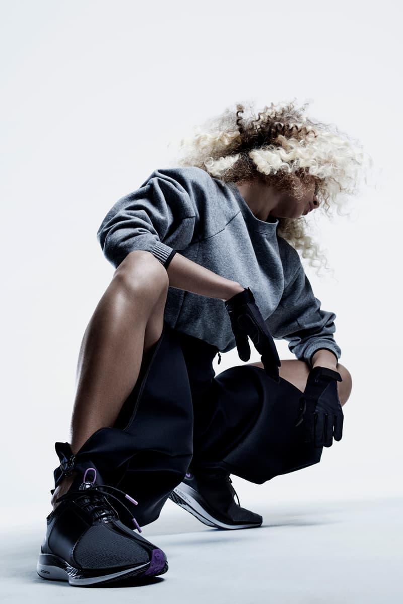 Nike City Ready Collection Campaign Olivia Burgess Fleece Crew Grey Pant Black