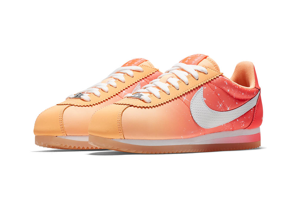 Nike Qixi Chinese Valentine's Day Cortez Classic Nylon Couple Peach Pink
