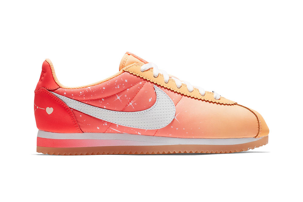 Nike Qixi Chinese Valentine's Day Cortez Classic Nylon Couple Peach Pink Heart