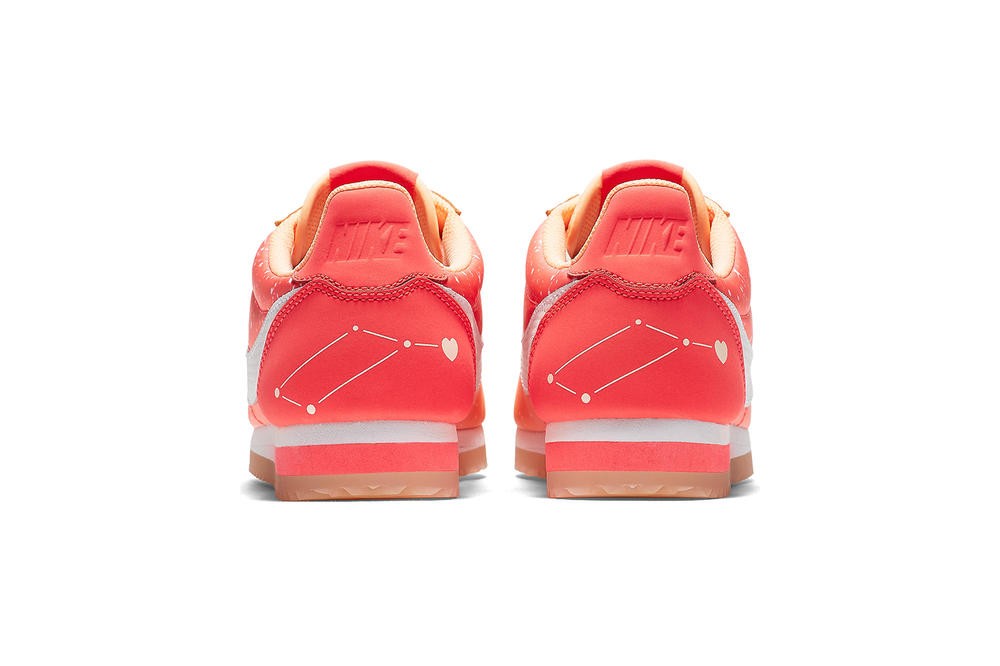 Nike Qixi Chinese Valentine's Day Cortez Classic Nylon Couple Peach Pink Constellation