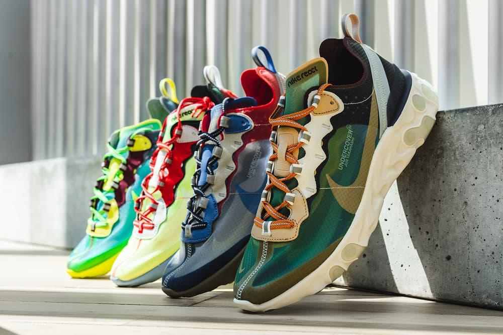 sneakers for cheap 07385 3fb92 undercover nike react element 87 jun takahashi closer look 3m