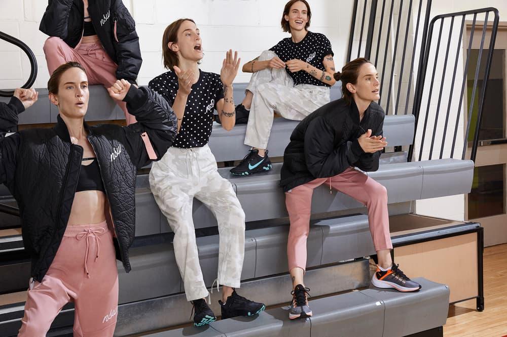Nike Sport Pack Jane Moseley Editorial Sweatpants Pink Shirt Jacket Black EXP-X14 Total Crimson Dark Grey