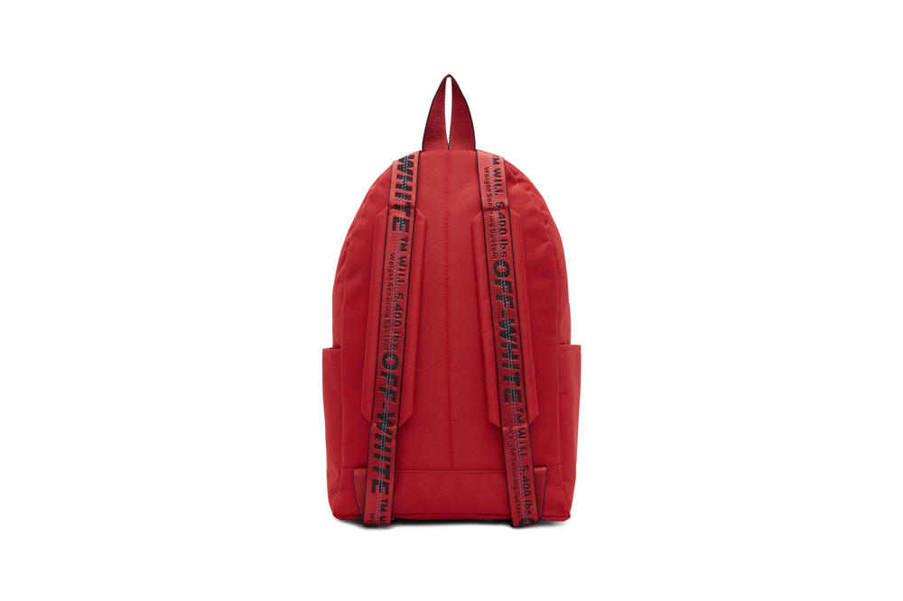 Off-White Quote Backpack Red