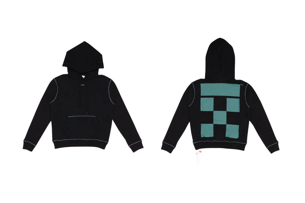 Off White TheDoubleF Hoodie Black Petrol Blue