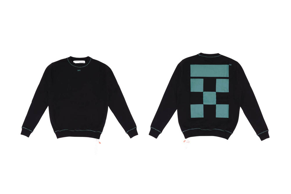 Off White TheDoubleF Sweater Black Petrol Blue