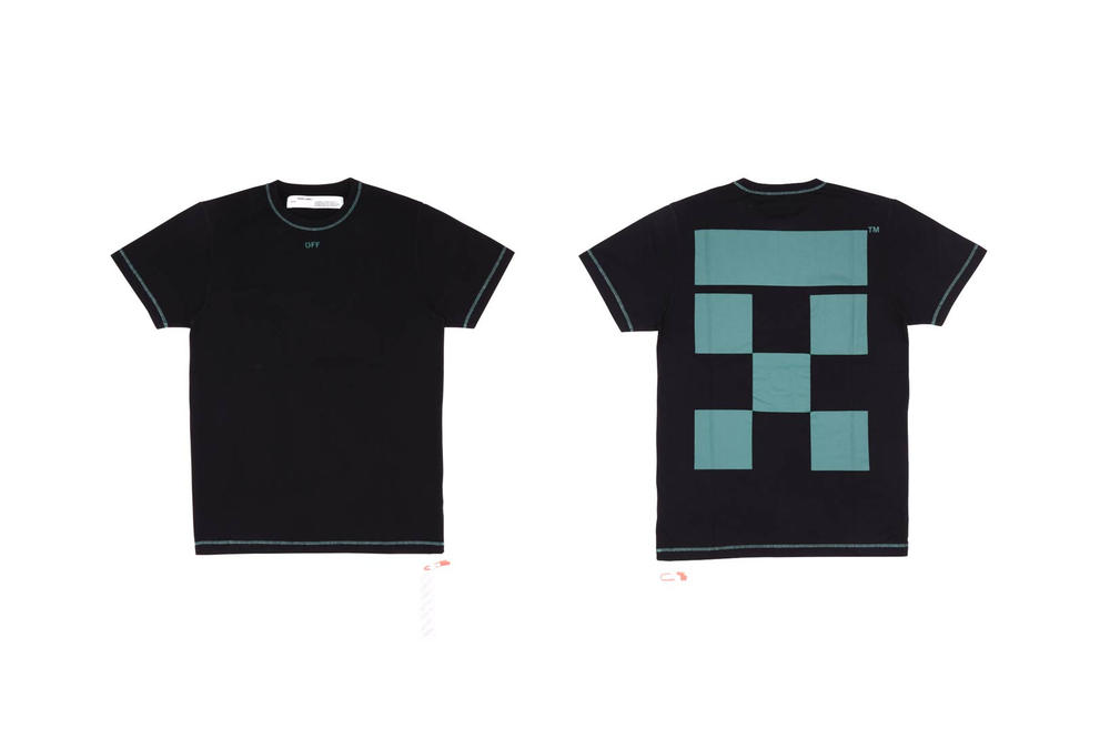 Off White TheDoubleF T Shirt Black Petrol Blue