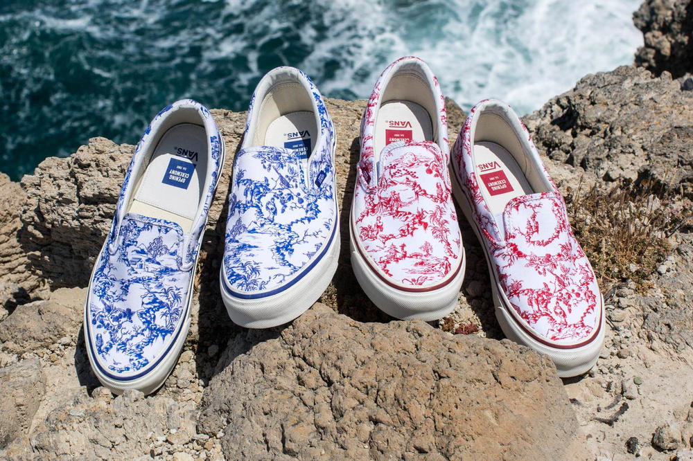 Opening Ceremony Vans Toile Slip On Blue Red
