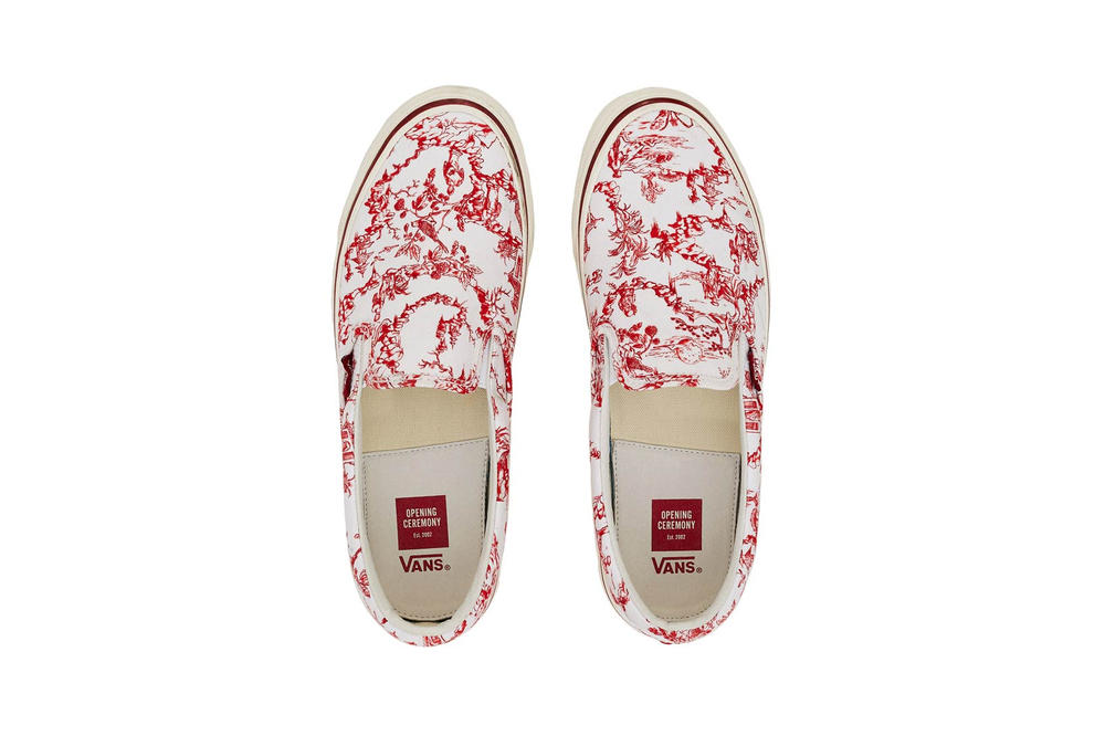 Opening Ceremony Vans Toile Slip On Red