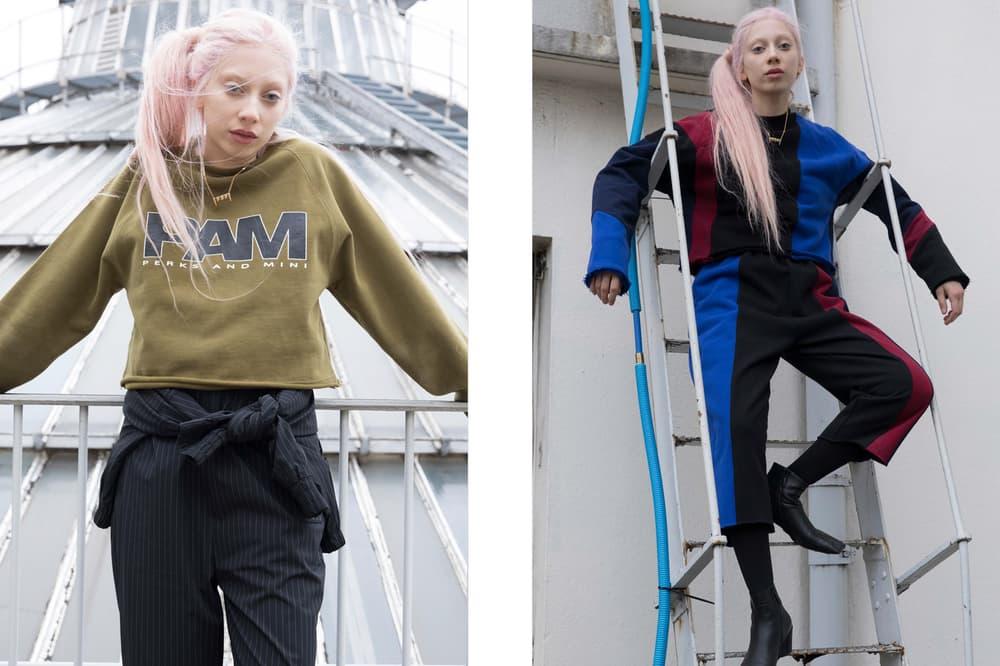 P.A.M. Fall/Winter 2018 Lookbook Sweater Green Long Sleeve Shirt Black Blue
